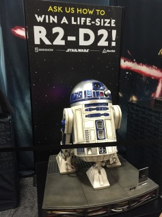 Yup, you could win yourself your very own life-size R2D2!!!